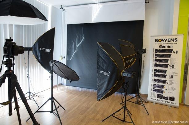 Material Bowens utilizado en el taller impartido por Paco Alacid.